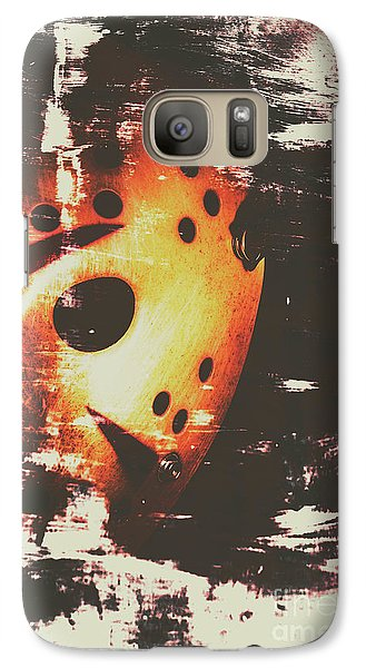 Hockey Galaxy S7 Case - Terror On The Ice by Jorgo Photography - Wall Art Gallery