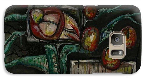 Galaxy Case featuring the painting Testing... by Carol Rashawnna Williams