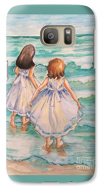 Galaxy Case featuring the painting Testing The Waters by Rosemary Aubut