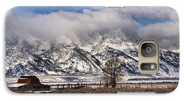 Galaxy Case featuring the photograph Teton Mormon Homestead Panorama by Adam Jewell
