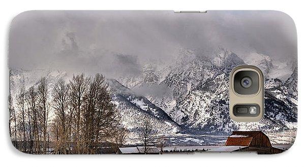 Galaxy Case featuring the photograph Teton Mormon Row Panorama by Adam Jewell