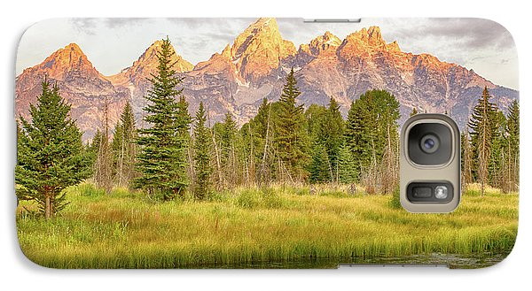 Galaxy Case featuring the photograph Teton Morning by Mary Hone