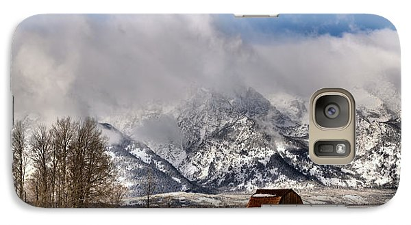 Galaxy Case featuring the photograph Teton Mountains Over Mormon Row by Adam Jewell
