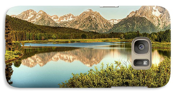 Galaxy Case featuring the photograph Teton Reflections by Rebecca Hiatt