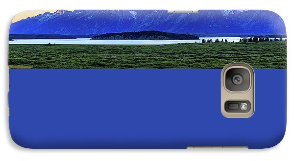 Galaxy Case featuring the photograph Teton Sunset by David Chandler