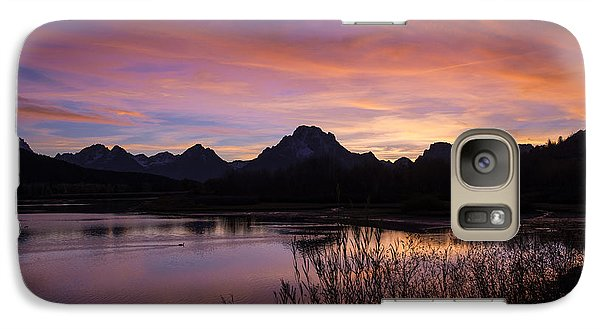 Galaxy Case featuring the photograph Teton Sunset by Gary Lengyel