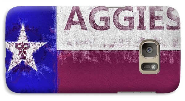 Galaxy S7 Case featuring the digital art Texas Aggies State Flag by JC Findley