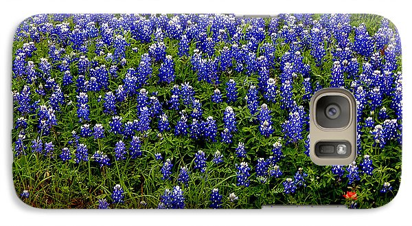 Galaxy Case featuring the photograph Texas Bluebonnets #0484 by Barbara Tristan