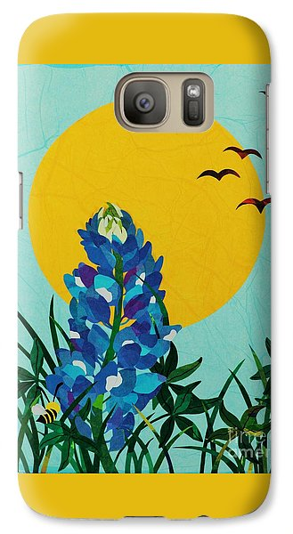 Galaxy Case featuring the mixed media Texas Bluebonnet by Diane Miller