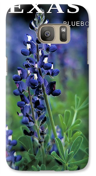 Galaxy Case featuring the mixed media Texas Bluebonnet State Flower by Daniel Hagerman
