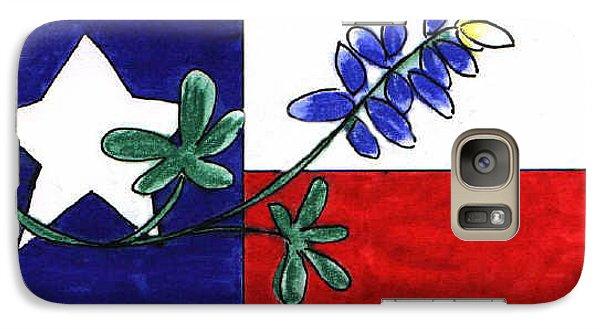 Galaxy Case featuring the drawing Texas Bluebonnet by Vonda Lawson-Rosa