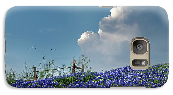 Galaxy Case featuring the photograph Texas Bluebonnets And Spring Showers by David and Carol Kelly
