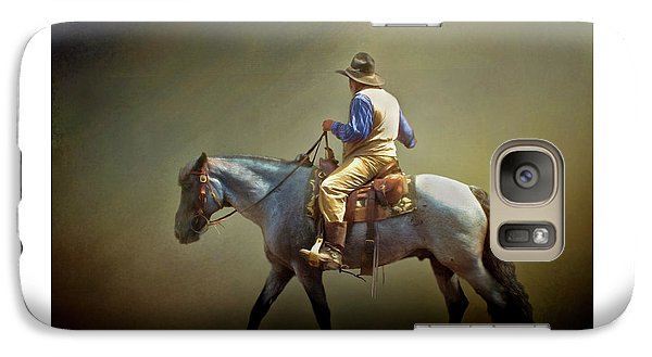 Galaxy Case featuring the photograph Texas Cowboy And His Horse by David and Carol Kelly