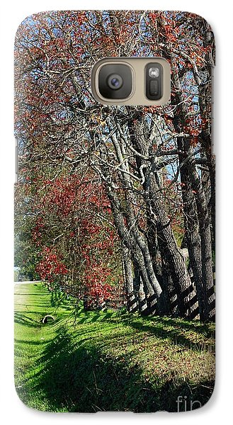 Galaxy Case featuring the photograph Texas Fall by Lori Mellen-Pagliaro