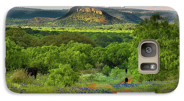 Galaxy Case featuring the photograph Texas Hill Country Ranch Road by Darryl Dalton