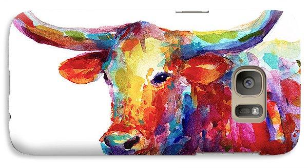 Texas Longhorn Art Galaxy S7 Case