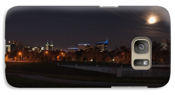 Galaxy Case featuring the photograph Texas Medical Center Moonset by Joshua House