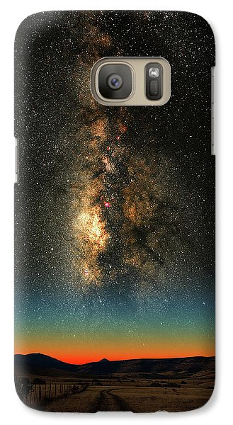 Galaxy Case featuring the photograph Texas Milky Way by Larry Landolfi