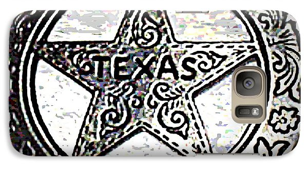 Galaxy Case featuring the photograph Texas Ranger Badge by George Pedro