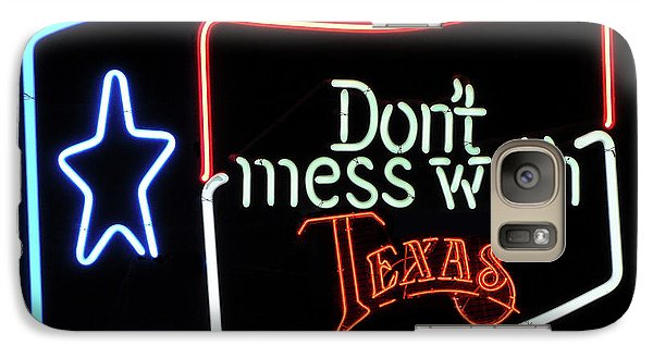 Galaxy Case featuring the photograph Texas Flag Saloon Neon by Daniel Hagerman