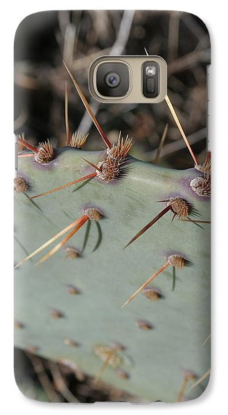 Galaxy Case featuring the photograph Texas Spikes by Laddie Halupa