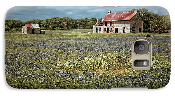 Galaxy Case featuring the photograph Texas Stone House by Linda Unger
