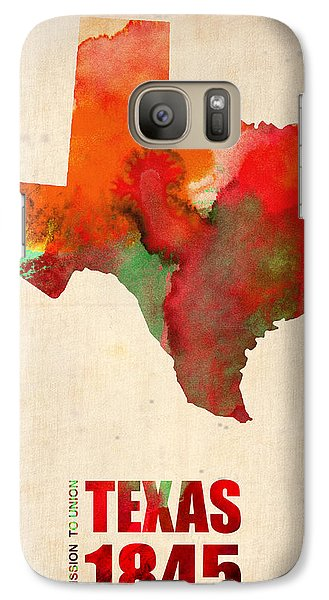 Texas Watercolor Map Galaxy Case by Naxart Studio