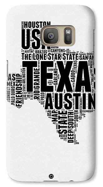 Austin Galaxy S7 Case - Texas Word Cloud 2 by Naxart Studio