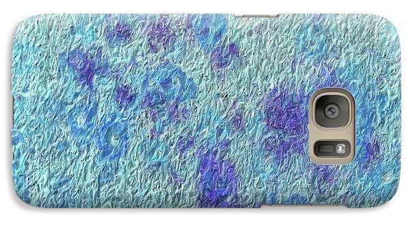 Galaxy Case featuring the digital art Textile ...bloom by Tom Druin