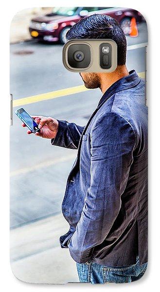 Man Texting Galaxy S7 Case