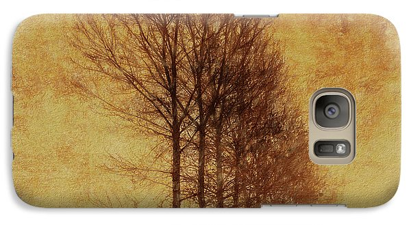 Galaxy Case featuring the mixed media Textured Eerie Trees by Dan Sproul