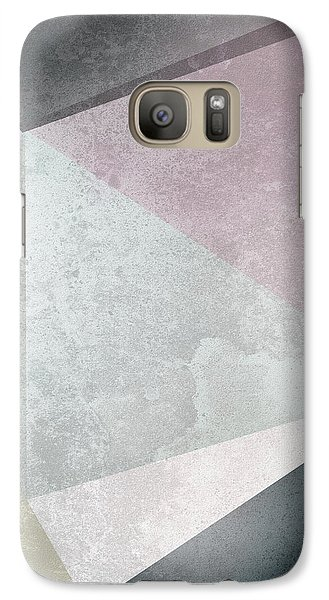 Textured Geometric Triangles Galaxy S7 Case