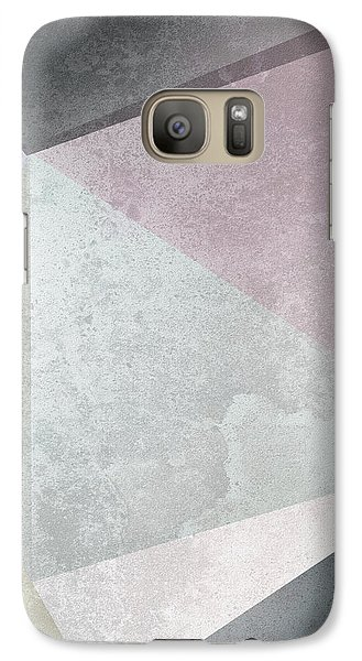 Flowers Galaxy S7 Case - Textured Geometric Triangles by Pati Photography