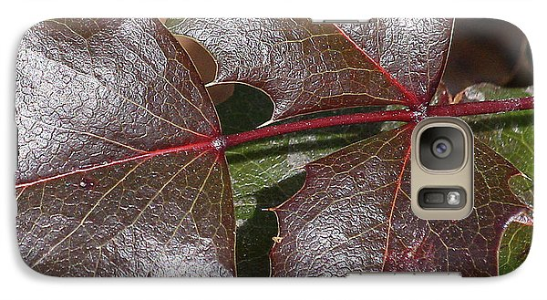 Galaxy Case featuring the photograph Textured Leaves by Doris Potter