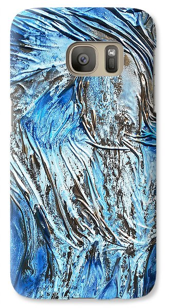 Galaxy Case featuring the mixed media Textured Woman Posing by Angela Stout