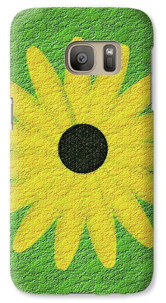 Galaxy Case featuring the digital art Textured Yellow Daisy by Smilin Eyes  Treasures