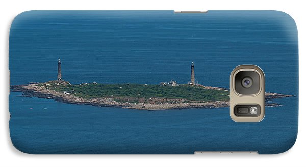 Galaxy Case featuring the photograph Thacher Island Lights by Joshua House