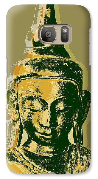 Galaxy Case featuring the digital art Thai Buddha #4 Pop Art Warhol Style Print.  by Jean luc Comperat