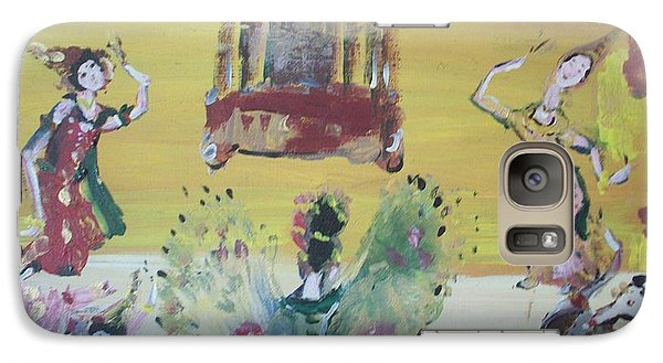 Galaxy Case featuring the painting Thai Butterfly Dance by Judith Desrosiers