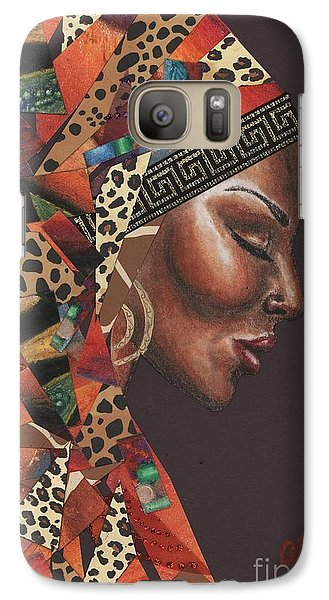 Galaxy Case featuring the mixed media Thank You Angela by Alga Washington
