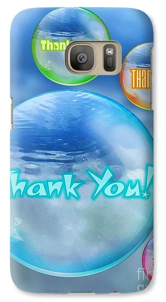 Thank You Bubbles Galaxy S7 Case