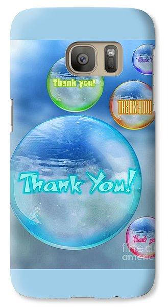 Thank You Bubbles Galaxy S7 Case