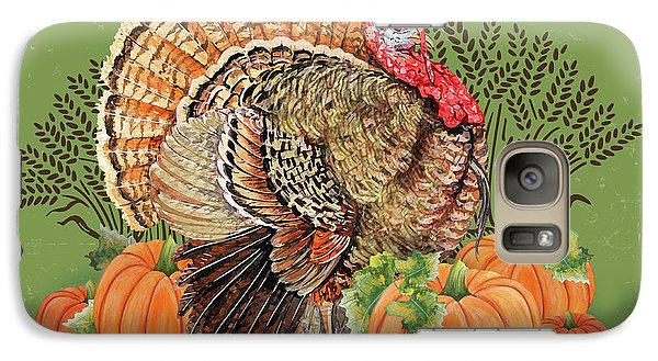 Galaxy Case featuring the painting Thanksgiving-b by Jean Plout