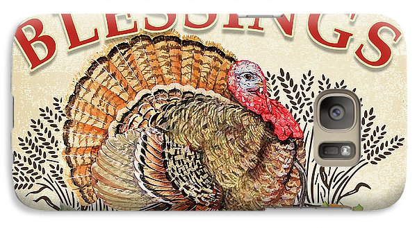 Galaxy Case featuring the painting Thanksgiving-e by Jean Plout