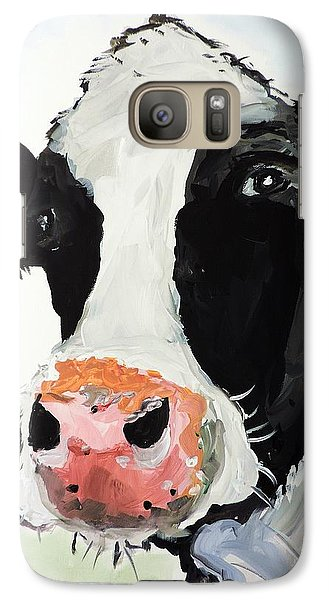 Galaxy Case featuring the painting That Look That Says... by Tom Riggs