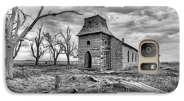 Galaxy S7 Case featuring the photograph That Old Time Religion Black And White by JC Findley