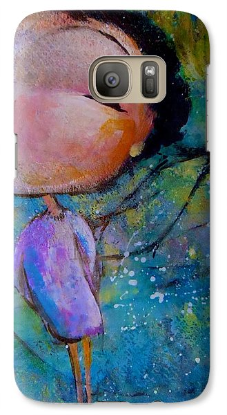 Galaxy Case featuring the painting That Troublesome Issue by Eleatta Diver