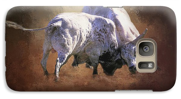 Galaxy Case featuring the photograph That's A Lot Of Bull by Donna Kennedy