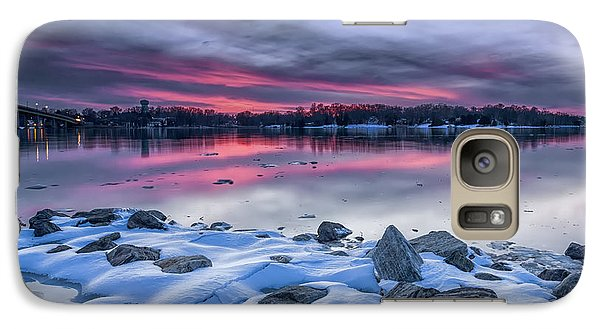 Galaxy Case featuring the photograph The Afterglow by Edward Kreis
