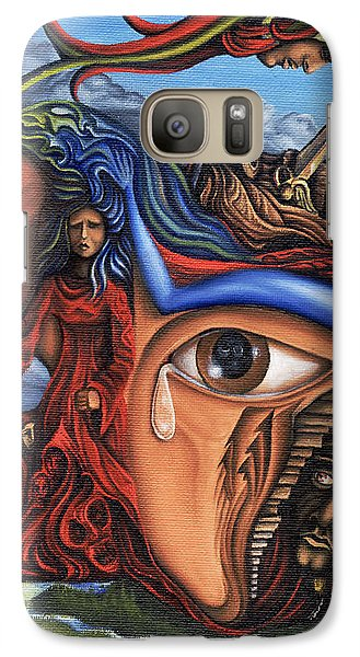 Galaxy Case featuring the painting The Aftermath by Karen Musick